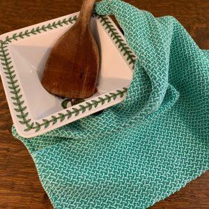 Twill Towels - Aqua Blue